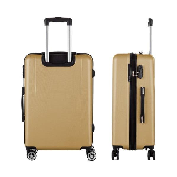 Cestovný kufor v zlatej farbe Berenice Wings, 71 l