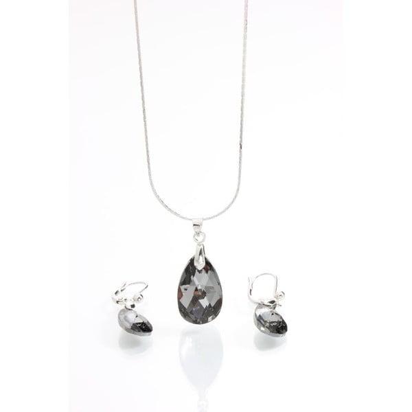 Set náhrdelníka a náušníc Yasmine Clear Dark
