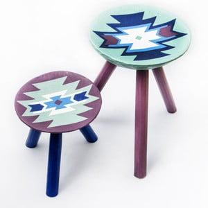 Sada 2 ručne maľovaných stoličiek Biertan