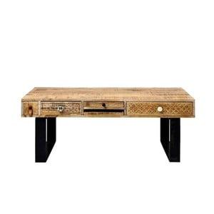 Konferenčný stolík z masívneho mangového dreva Massive Home Ella, dĺžka 120 cm
