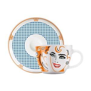 Set porcelánovej šálky a tanierika na espresso Ritzenhoff Michal Shalev, 8 cl