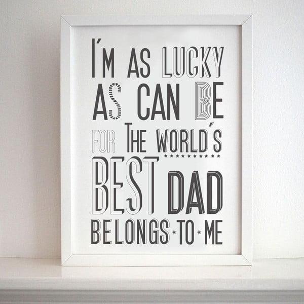 Plagát Best Dad, 30x40 cm
