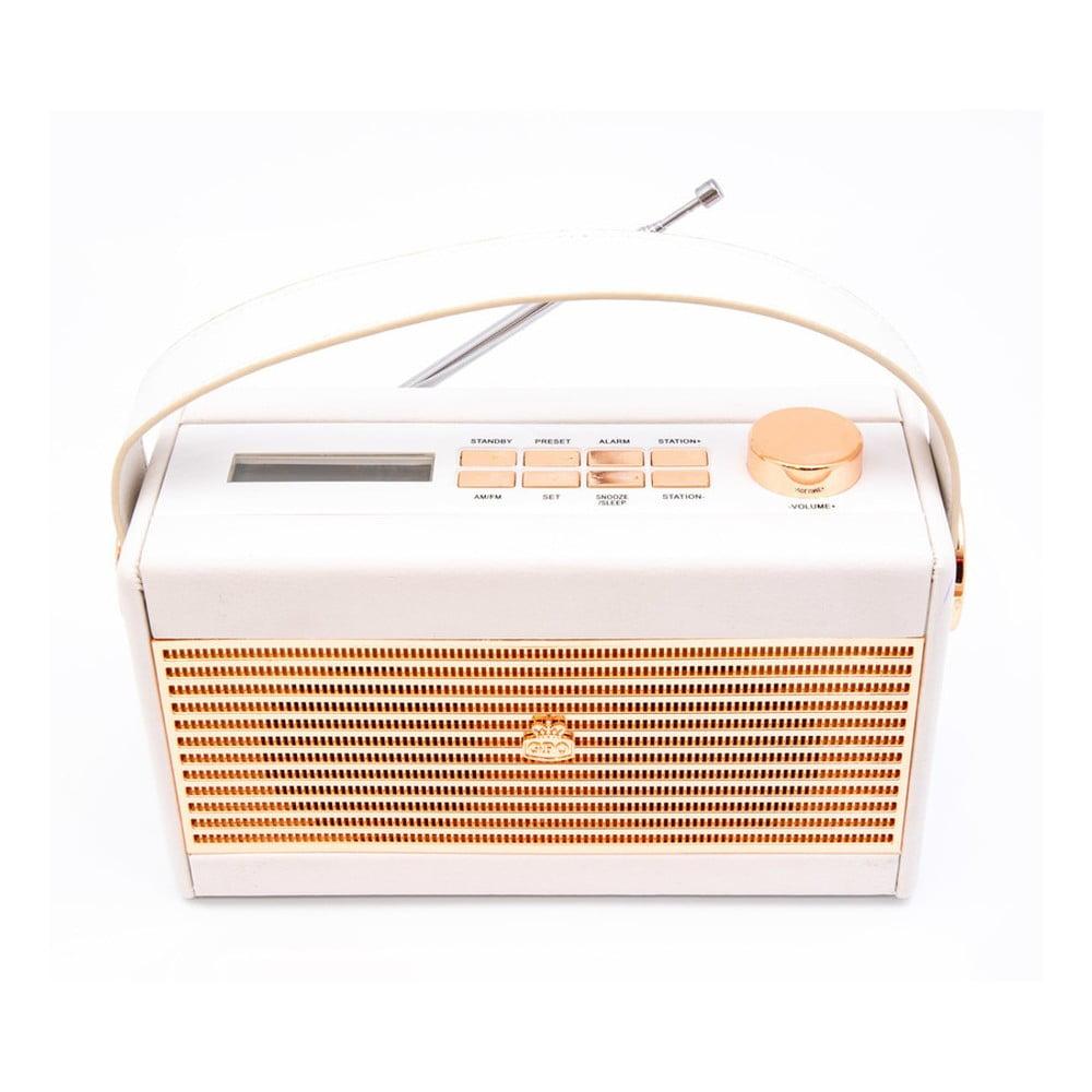 Krémovo-biele rádio GPO Darcy Black Wo294