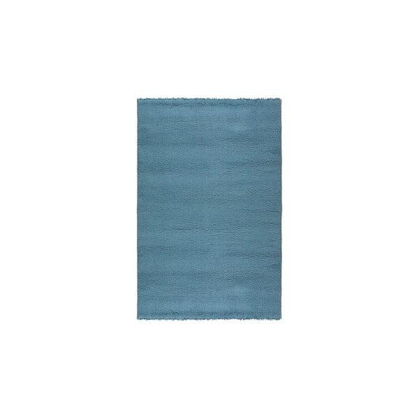 Vlnený koberec Pradera, 140x200 cm, modrý