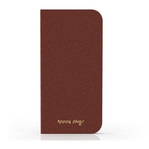 Preklápací obal Happy Plugs na iPhone 5, hnedý