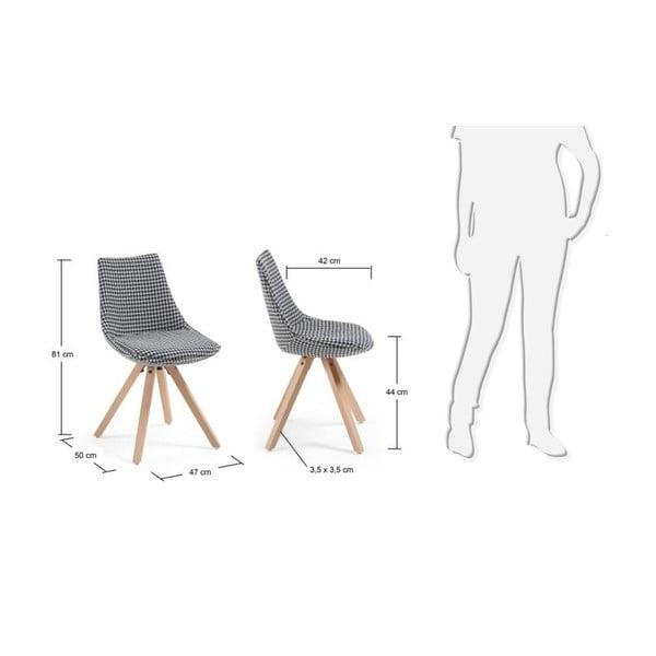 Čierno-biela stolička La Forma Armony