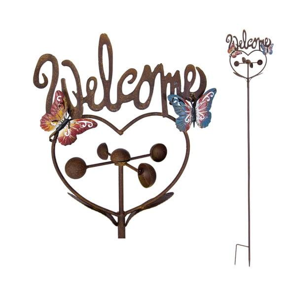 Zapichovacia ceduľa na záhradu Welcome, 143 cm