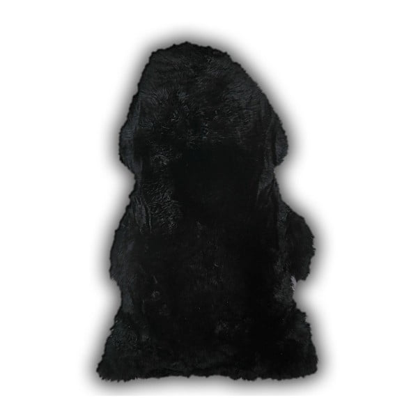 Čierna ovčia kožušina Pipsa Mouton, 110×80cm