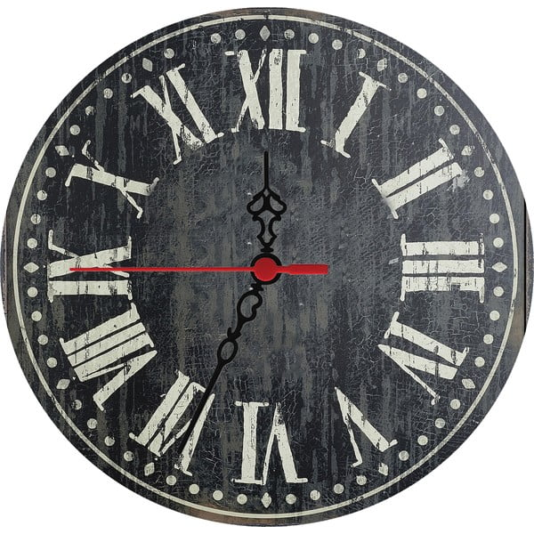 Nástenné hodiny Dark Times, 30 cm