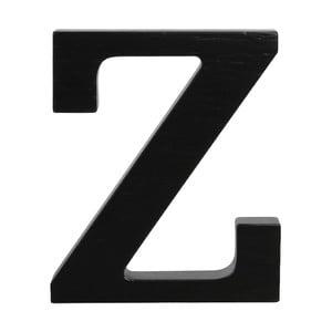 Čierne drevené písmeno Typoland Z