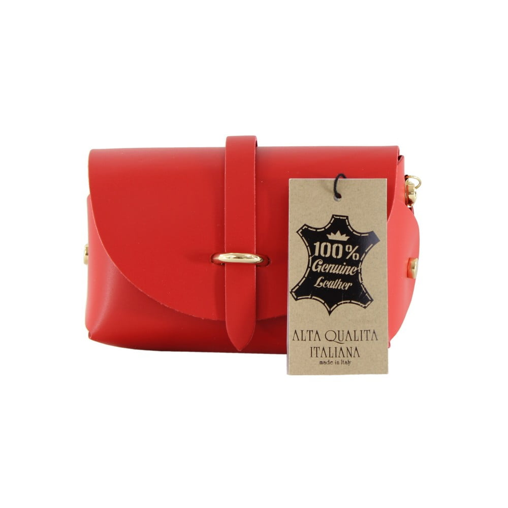 26d45fc502 Červená kožená kabelka Chicca Borse Loira
