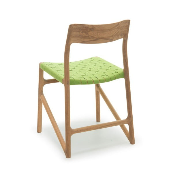 Stolička Fawn Natural Gazzda, zelená
