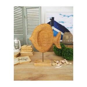 Dekorácie z mangového dreva Orchidea Milano Fish, výška 50 cm