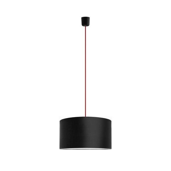 Závesné svietidlo Tres 36 cm, červená/čierna