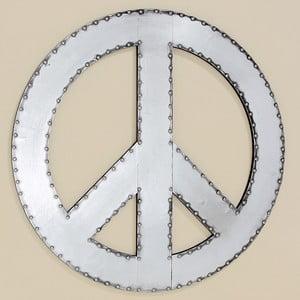 Nástenná dekorácia Peace, 71 cm