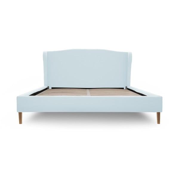 Pastelovomodrá posteľ VIVONITA Windsor 160x200cm, prírodné nohy