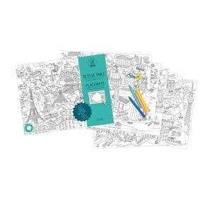 Prestieranie-omaľovánky pre deti City Map, 24 ks