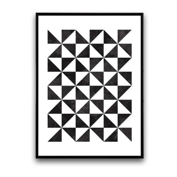 Plagát v drevenom ráme Laevis, 38x28 cm