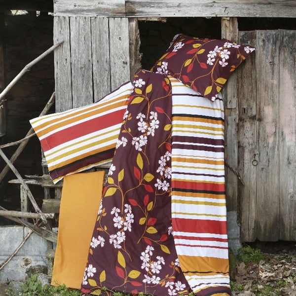 Obliečky Flor Brown, 200x220 cm