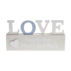 Drevená dekorácia Love Heart