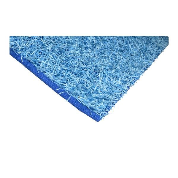 Modrý koberec Webtappeti Shaggy, 75 x 155 cm