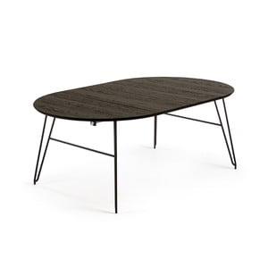 Čierny rozkladací jedálenský stôl La Forma Norfort, dĺžka 120/200 cm