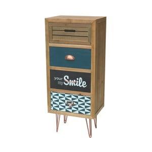 Skrinka z jedľového dreva so zásuvkami Livin Hill Portofino