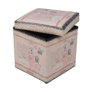 Skladací puf Parfumerie, 32x32 cm