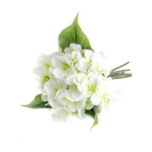 Biela umelý kvet v štýle hortenzie Dakls