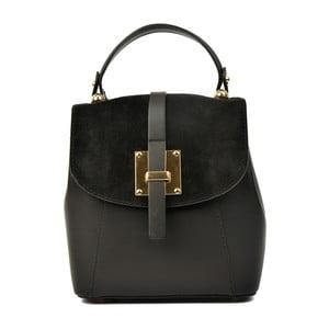 Čierny kožený batoh Carla Ferreri Muro Gerro