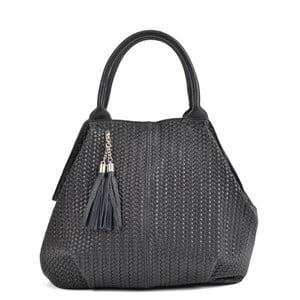 Čierna kožená kabelka Mangotti Bags Betania