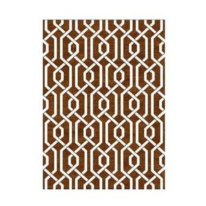 Ručne tkaný koberec Camila Brown, 155x240 cm