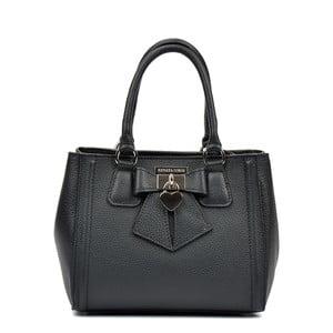 Čierna kožená kabelka Renata Corsi Serena