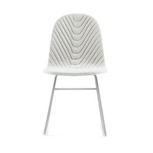 Krémová stolička s kovovými nohami IKER Mannequin V Wave
