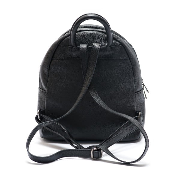 Kožený batoh Mangotti 1166, čierny