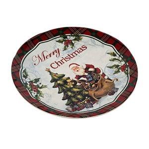 Keramický tanier Merry Xmas, 25 cm