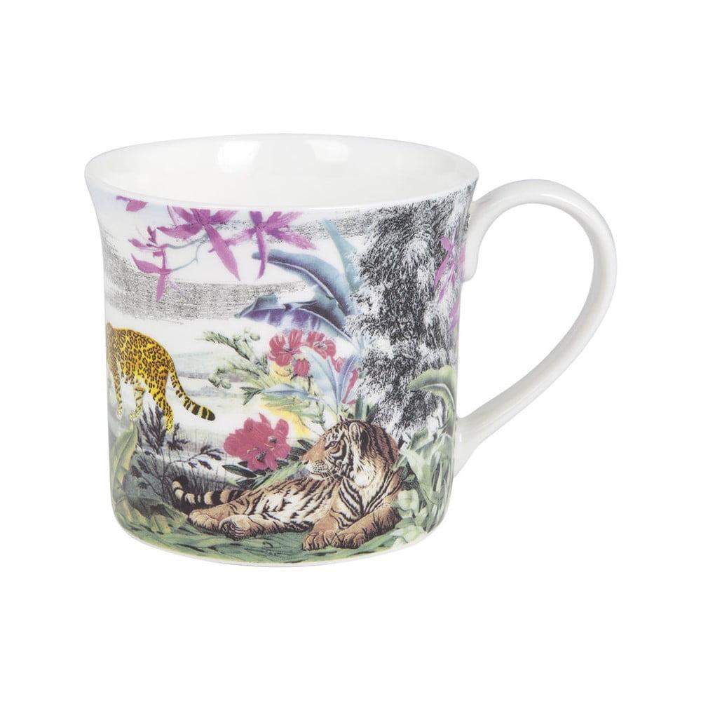 Hrnček z kostného porcelánu Ashdene Jungle Kingdom Big Cats, 260 ml