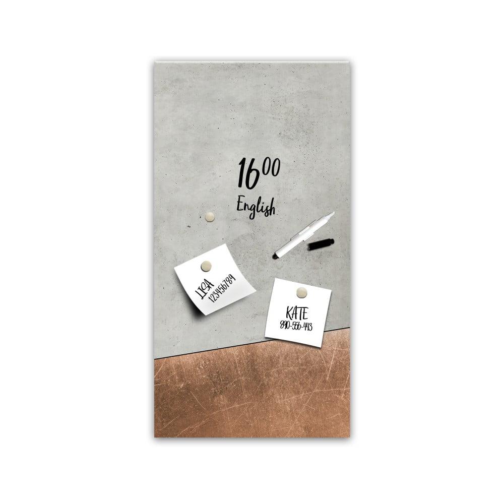 Magnetická tabuľa Styler Grey Copper, 30 × 60 cm