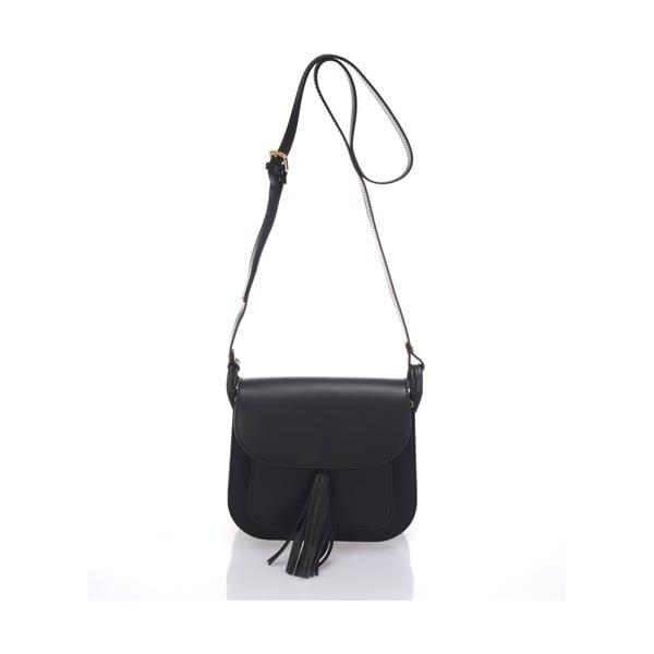 Čierna kožená kabelka Lisa Minardi Bycast