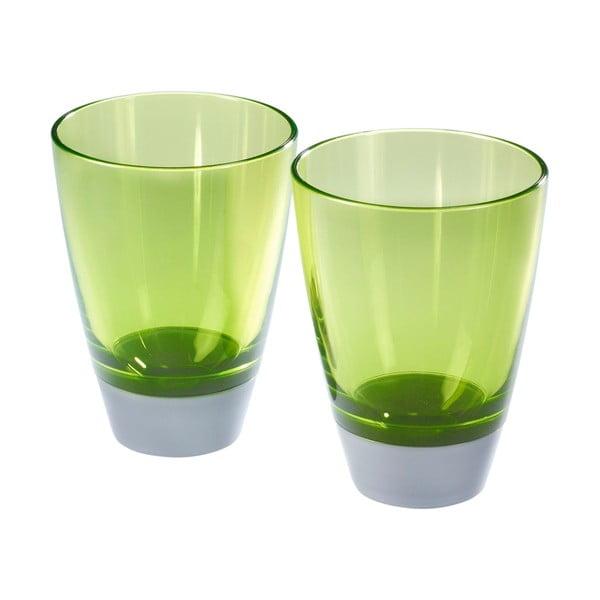 Sada 2 zelených pohárov Entity