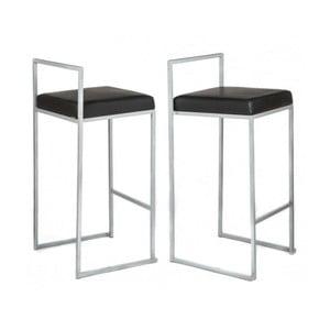 Sada 2 barových stoličiek Dodo, čierna