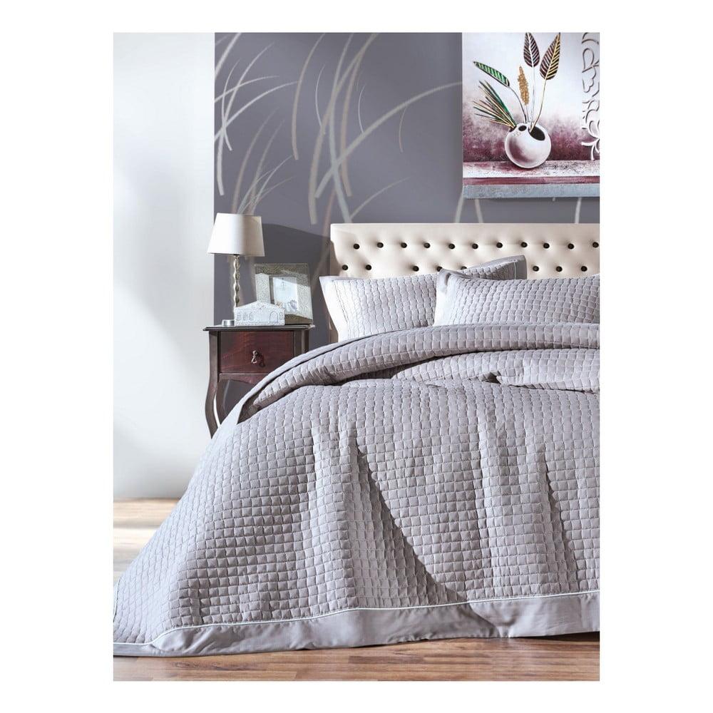 Set prikrývky cez posteľ a 2 obliečok na vankúš Bobby, 260 × 230 cm