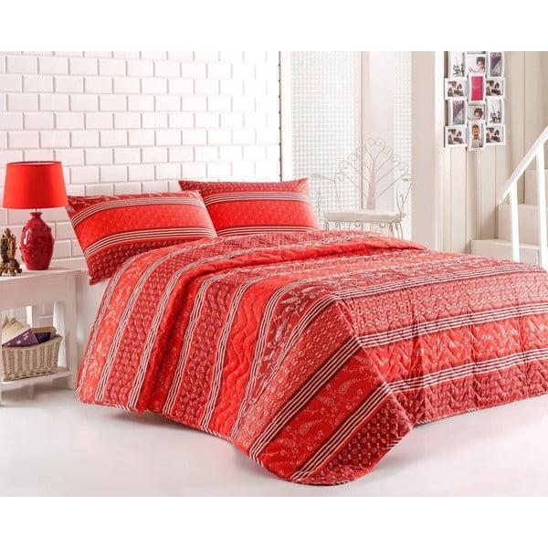 Sada prešívanej prikrývky na posteľ a dvoch vankúšov Double 426, 200x220 cm