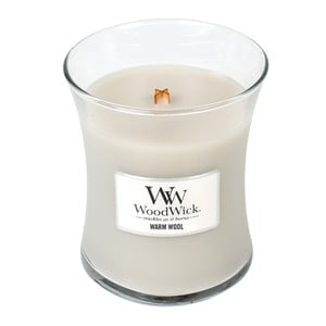 Vonná sviečka WoodWick Hrejivá vlna, 275 g, 60 hodín