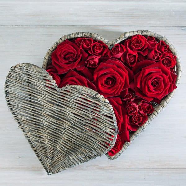 Obraz Rose Heart, 30x30 cm