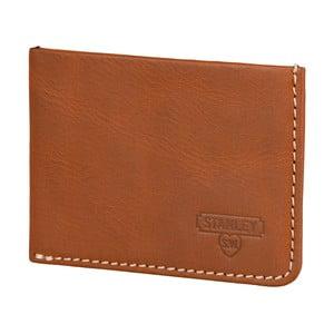 Hnedá kožená peňaženka na karty Stanley Tools Card