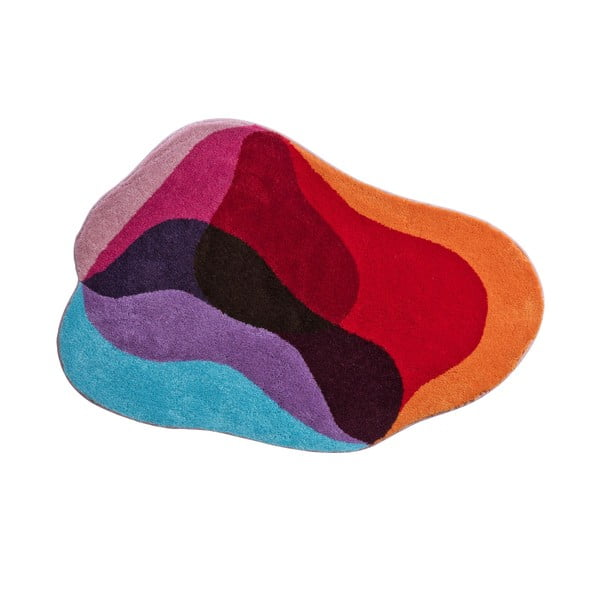 Kúpeľňová predložka Kolor My World XXI 90x130 cm, červenomodrá
