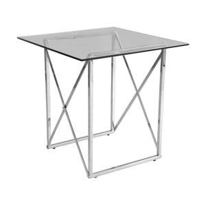 Chrómovaný odkladací stolík RGE Cross, dĺžka 55 cm