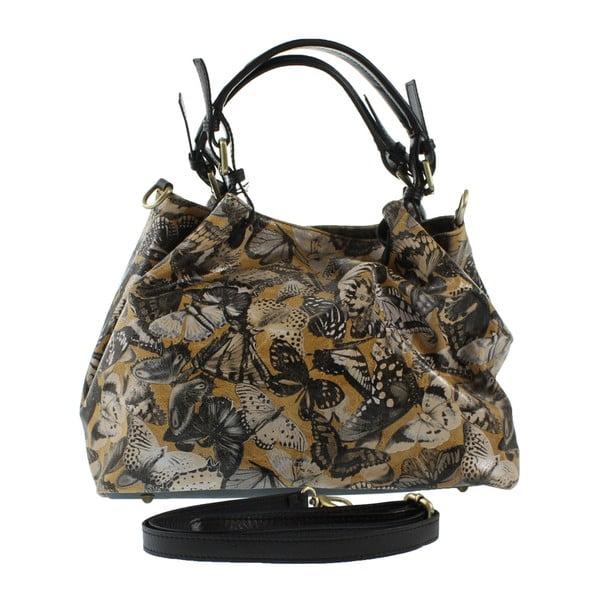 Karamelová kožená kabelka Teresa