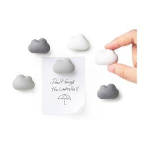 Sada 6 kusov magnetov Qualy Cloud Magnets